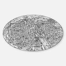 Vintage Pictorial Map of Paris (17t Decal