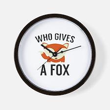 Who Gives A Fox Wall Clock