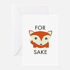 For Fox Sake Greeting Cards (Pk of 10)