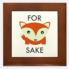 For Fox Sake Framed Tile