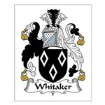 Whitaker Family Crest Small Poster