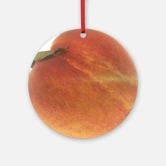 Georgia Peach Round Ornament