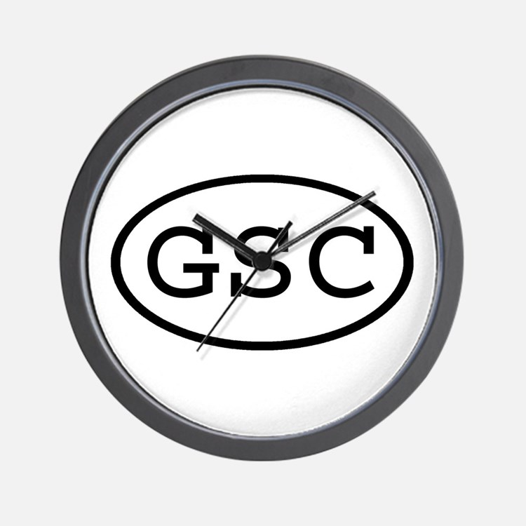 GSC Oval Wall Clock