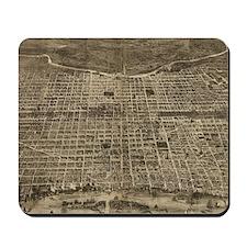 Vintage Pictorial Map of Philadelphia (1 Mousepad