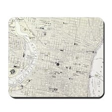 Vintage Map of Philadelphia (1885) Mousepad