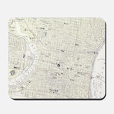 Vintage Map of Philadelphia (1885) Mousepad