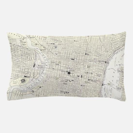 Vintage Map of Philadelphia (1885) Pillow Case