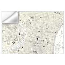 Vintage Map of Philadelphia (1885) Wall Decal