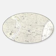 Vintage Map of Philadelphia (1885) Decal