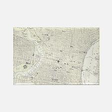 Vintage Map of Philadelphia (1885 Rectangle Magnet