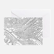 Vintage Map of Pittsburgh (1885)  Greeting Card