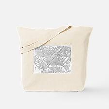 Vintage Map of Pittsburgh (1885)  Tote Bag