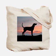 Bluetick Coonhound Sunset Tote Bag