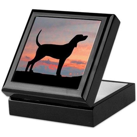 Bluetick Coonhound Sunset Keepsake Box