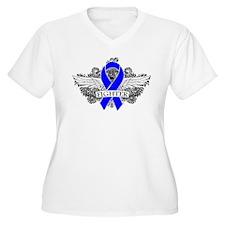Myositis Fighter Wings Plus Size T-Shirt