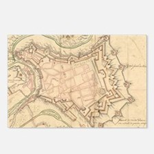 Vintage Map of Luxembourg Postcards (Package of 8)
