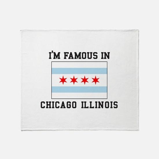 Famous Chicago, Illinois Throw Blanket