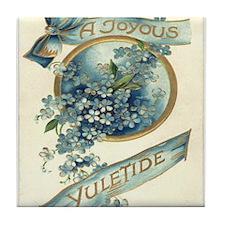Joyous Yuletide Tile Coaster