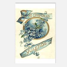 Joyous Yuletide Postcards (Package of 8)