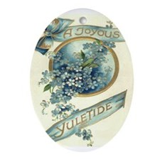 Joyous Yuletide Oval Ornament