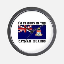 Famous Cayman Islands Wall Clock