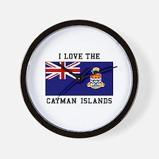 I Love Cayman Islands Wall Clock