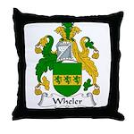 Wheler Family Crest Throw Pillow