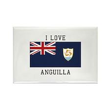 I Love Angulla Magnets