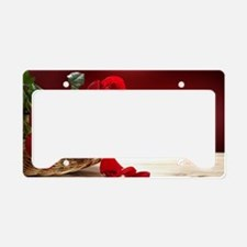 Superb Red Roses License Plate Holder
