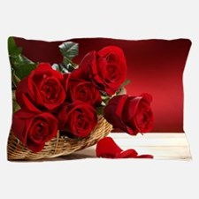 Superb Red Roses Pillow Case