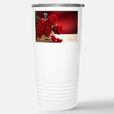 Superb Red Roses Travel Mug