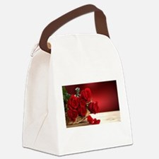 Superb Red Roses Canvas Lunch Bag