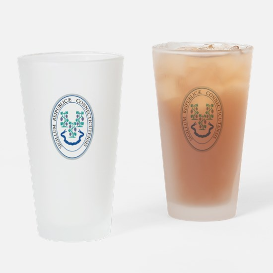 Connecticut State Seal Drinking Glass