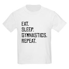 Eat Sleep Gymnastics Repeat T-Shirt