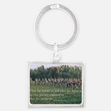 Running a Race Keychains