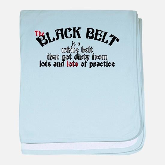 The Black Belt Is baby blanket