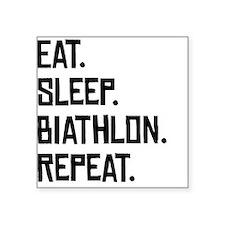 Eat Sleep Biathlon Repeat Sticker