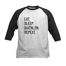 Eat Sleep Biathlon Repeat Baseball Jersey