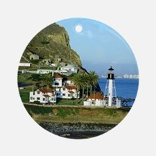 Point Loma Lighthouse Round Ornament