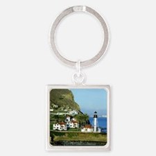 Point Loma Lighthouse Square Keychain