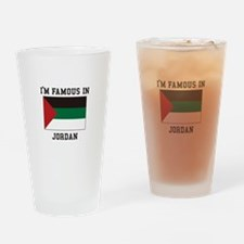 Famous In Jordan Drinking Glass