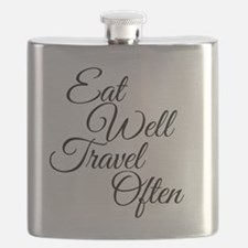 Eat Well Travel Often Flask