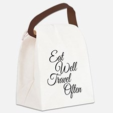 Eat Well Travel Often Canvas Lunch Bag