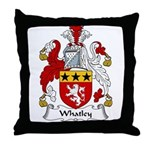 Whatley Family Crest Throw Pillow
