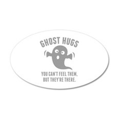 Ghost Hugs 22x14 Oval Wall Peel
