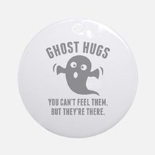 Ghost Hugs Ornament (Round)