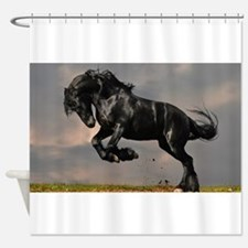 Beautiful Black Horse Shower Curtain
