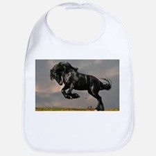 Beautiful Black Horse Bib