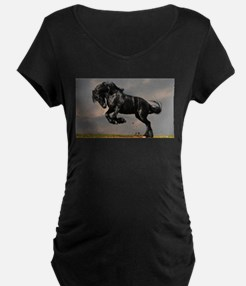 Beautiful Black Horse Maternity T-Shirt