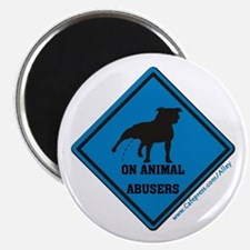 """Piss On Animal Abusers 2.25"""" Magnet (10 pack)"""